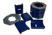 LEGO 6x6 panels x8 + 10x10 hex plates # DARK BLUE wall castle nexo knights tower