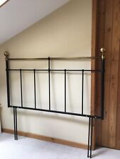 Headboard for Double Divan Bed Black Gold Antique Style Metal Head Frame