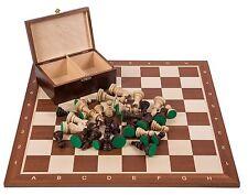 Pro Schach Set Nr. 5  - MAHAGONI - Schachbrett  & Schachfiguren STAUNTON 5