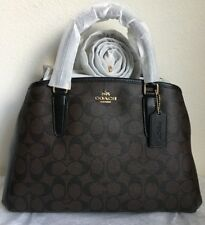 NWT COACH SMALL MARGOT CARRYALL IN SIGNATURE COATED CANVAS F58310 $395