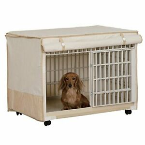IRIS Plastic Pet Crate/Cage with Fabric Cover fromJAPAN