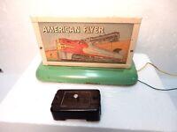 American Flyer Vintage #566 Whistling Billboard just off Flyer layout--S gauge--