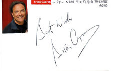 BRITISH ACTOR BRIAN CAPRON HANDSIGNED 6 x 4 AUTOGRAPHED WHITE CARD
