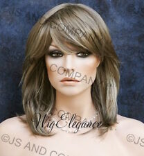 LATEST STUNNING  Salon Full wig  ASH Blonde MIX teased top Hairpiece WBKE 18-22