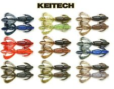 KEITECH CRAZY FLAPPER Jig Trailer Texas Rig Squid Aroma Scent Soft Lure BASS