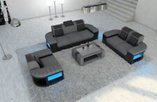 Fabric Sofa Set Bellagio 321 LED Luxury Couch Seating Area Design Upholstered