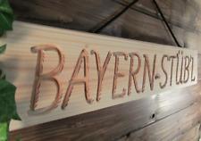 BAYERN STÜB'L - grosses Holzschild / Dekoschild, für Bar, Gartenhaus, 64 x 12 cm