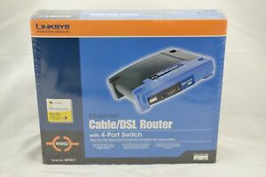 Linksys Etherfast Cable DSL Router 4 Port Switch Model BEFSR41 Wired Sealed