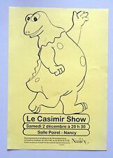 publicité salle Poirel Nancy le Casimir Show Enfance de l'art 2001