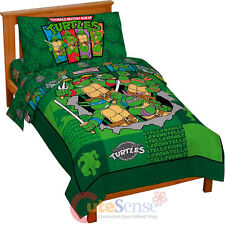 TMNT Ninja Turtles Turtle Toddler Bedding Set 4pc Microfiber Bed Comforter Set