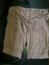 TARGET MODA WOMENS SIZE 16 CHOCOLATE BROWN STRETCH POPLIN SHORTS BOTTOMS