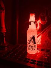 Mlb Arizona Diamondbacks Bottle Light Baseball 12 oz Beer Led Neon Bar Pub Mens