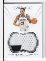 2018-19 Rondae Hollis-Jefferson #20/20 Patch Panini Flawless Nets
