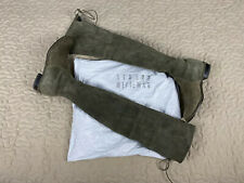 Stuart Weitzman Lowland Over The Knee Suede Leather Boots Sz 6.5 Olive Green