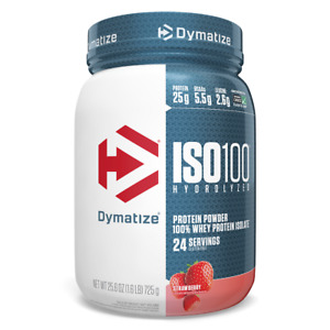 Dymatize Nutrition, ISO100 Hydrolyzed, 100% Whey Protein Isolate, Strawberry,