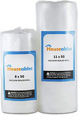 New listing Houseables Vacuum Sealer Rolls, Sous Vide Bags, Large, 8 Inch x 50 Ft, 11 Inch x