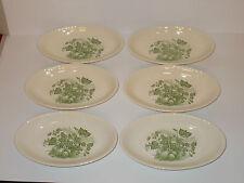 6 x Ceramic Oval Shallow Dessert Bowls Serving Dishes  Fruit Veg Design - Lovely