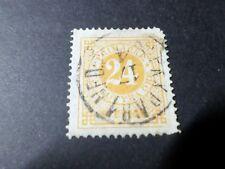 SUEDE SVERIGE, 1872, timbre CLASSIQUE n° 22B, dent 14, oblitéré, used STAMP