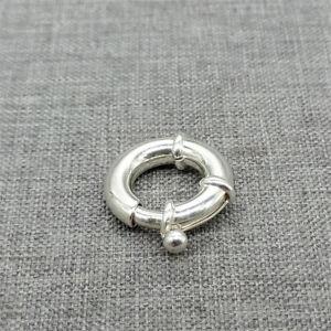 925 Sterling Silver Large Spring Ring Clasp 14mm for Bracelet Necklace