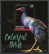 Grenadines Grenada 2019 MNH Colorful Birds Purple Gallinule 1v S/S Stamps