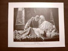 The secret o Il segreto Quadro di E.Blair Leighton Stampa del 1888