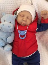 "CHERISH DOLLS CHILDRENS REBORN DOLL BABY BOY JAY REALISTIC 22"" BIG NEWBORN UK"