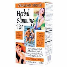 21st Century Health Care, Herbal Slimming Tea, Orange Spice, Caffeine Free, 24 T