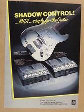 vintage magazine advert 1988 SHADOW MIDI GUITAR