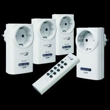 Kabelloses Funk Steckdosen Set 3x 1000W Schalter 1x 200W Dimmer + Fernbedienung