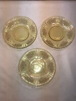 Vtg 3pc Set Of 1950-60's Federal Glass Sharon Cabbage Rose Tea Cup SAUCER ONLY