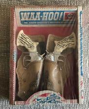 VINTAGE WAA-HOO WESTERN CAP GUN SET WITH HOLSTERS SEALED IN ORIGINAL BOX NICE