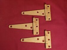 3 Vintage S mall T Strap Hinges Chest Toy Tool Box Trunk