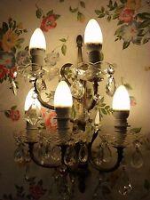 Appliques Murales en bronze 5 branches & pampilles (x2) XL