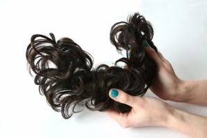 Stranded hair Curly Twirl clip in hairpiece with two flexible wires  Flick Twirl
