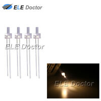 100pcs 2mm Water Clear Warm White Light Flat Top Transparent LED Diodes 18000Mcd