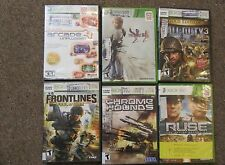 Lot of 6 - X BOX 360 Games.  Rated T -  See Description for Listing - Good