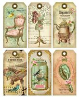 Nostalgia Large Gift Tags / Glossy Finish Card Making Toppers - Embellishment