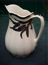 STAFFORDSHIRE IRONSTONE WILKINSON COPPER LUSTER WHEAT DESIGN RIBBED PITCHER EXC.