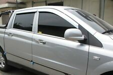 Auto Clover Chrome Wind Deflectors for Ssangyong Korando / Musso 2013 - 2018