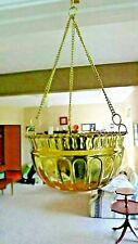 Medal Hanging Flower Basket with Gold Chain-Light Weight
