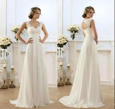 High Waist Maternity Wedding Dresses Boho Beach Plus Size Bridal Gowns Lace