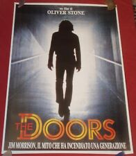 THE DOORS Jim Morrison Val Kilmer Oliver Stone 27 x 40 Italian Movie Poster 1990