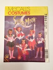 McCall's Costumes Sailor Moon Girls Pattern 7859 Size (10,12) Ex-Large Uncut