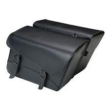 Willie & Max Black Jack Large Slant Saddlebag Set