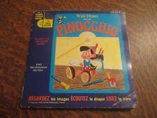 45 tours livre disque walt disney presente pinocchio raconte par JACQUES DUBY