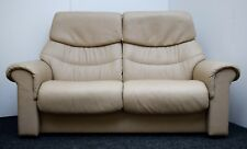 "EKORNES STRESSLESS ""LIBERTY"" LEATHER RECLINING 2 SEATER SOFA"
