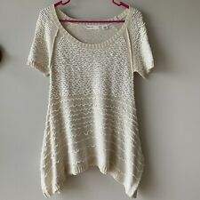 Anthropologie Sleeping On Snow Cream Loop Knit Sweater Tunic Size Small