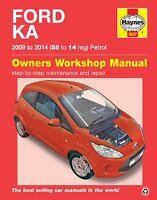 5637 Haynes Ford Ka petrol (2009 - 2014) 58 to 14 Workshop Manual