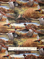 Pheasant Bird Fabric - Wildlife Birds CP59995 Feathered Run Wild Wings - Yard