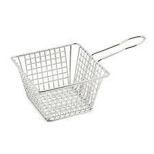 "Winco Fbm-554S Mini Fry Basket, 5"" x 5"" x 4"", square, 18/8, dishwasher safe"